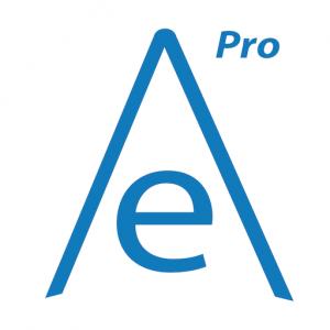 Logo oficial blanco y azul de English Academy Pro